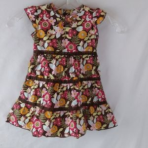 3/20$ Baby Gap layered tier dress sleeve floral